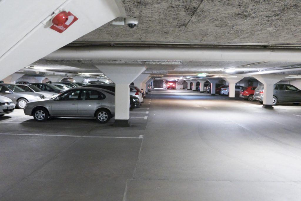 Mark & Miljö har renoverat det stora underjordiska garaget som löper utmed Lorensborgsgatan. Garaget är nu utrustat med övervakningskameror och ett passersystem.